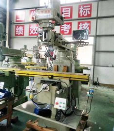 China Auto Lubrication Turret Milling Machine NT40 Spindle Taper 5 HP Spindle Motor supplier